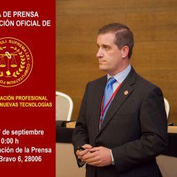 Rueda de prensa presentación oficial de la Asociación Prodesional de Peritos de Nuevas Tecnologías
