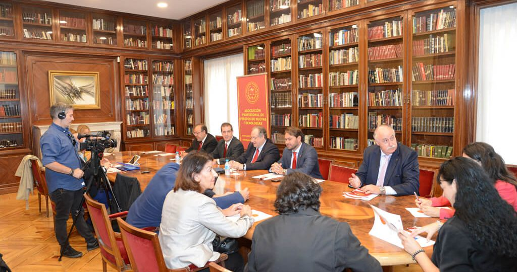 Rueda de prensa de la presentación de la Asociación PETEC