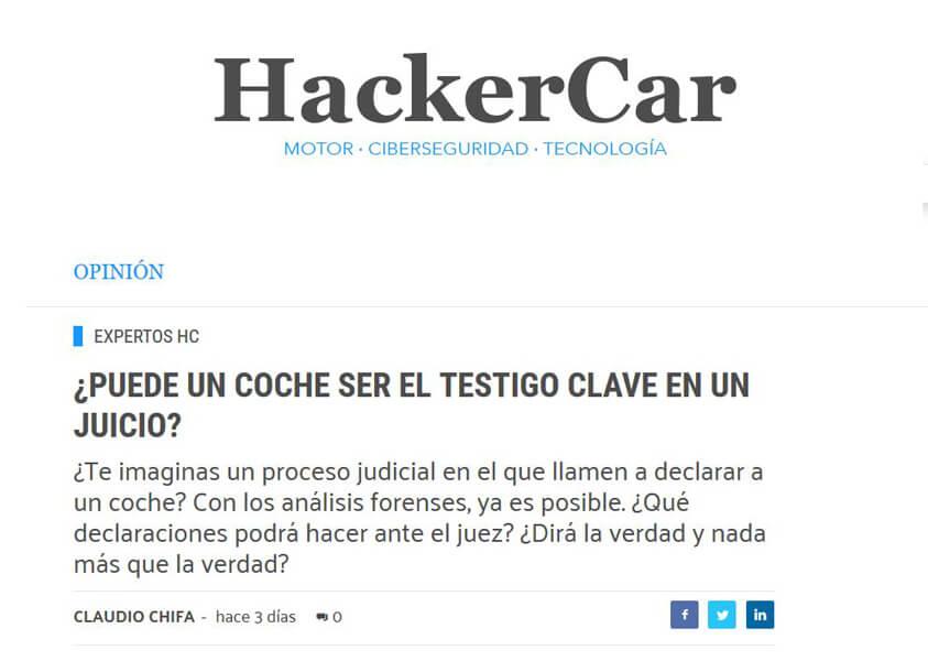Artículo en HackerCar del asociado Claudio Chifa