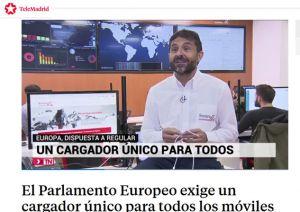 Santiago Arellano asociado de PETEC en informativos de Telemadrid