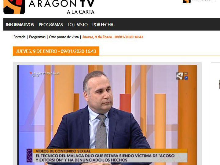 Juan de Dios Meseguer socio de PETEC en Aragon TV