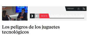 Los peligros de los juguetes tecnológicos en Buenos Días Madrid