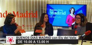 Poscast de la entrevista. Eli Del Valle, Rocío Fuentes y Nieves Navarro en Buenos Días Madrid