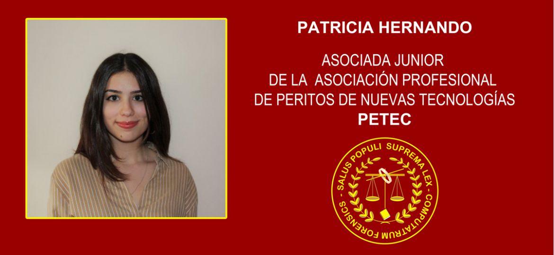 Patricia Hernando asociada junior de la Asociación Profesional de Peritos de Nuevas Tecnologías, PETEC
