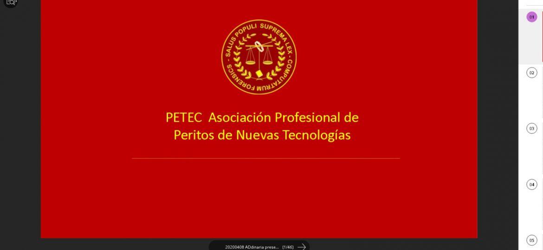 Asamblea Ordinaria de la Asociación Profesional de Peritos de Nuevas Tecnologías