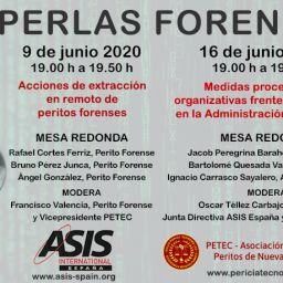 PERLAS FORENSIC, formaciones el 9 y 16 de junio de 19:00 h a 19:50 h