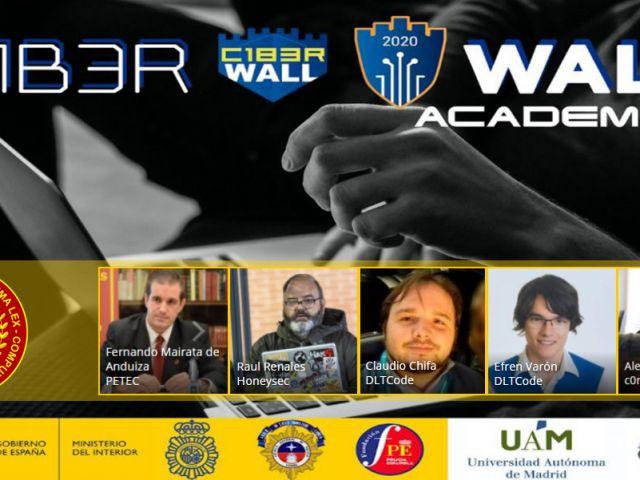 Asociados de PETEC en C1berWall Academy 2020: Fernando Mairata, Raúl Renales, Claudio Chifa, Efrén Varón, Alex Barreiros
