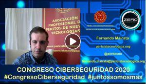 Congreso ciberseguridad 2020 de Zero Seguirdad Informática