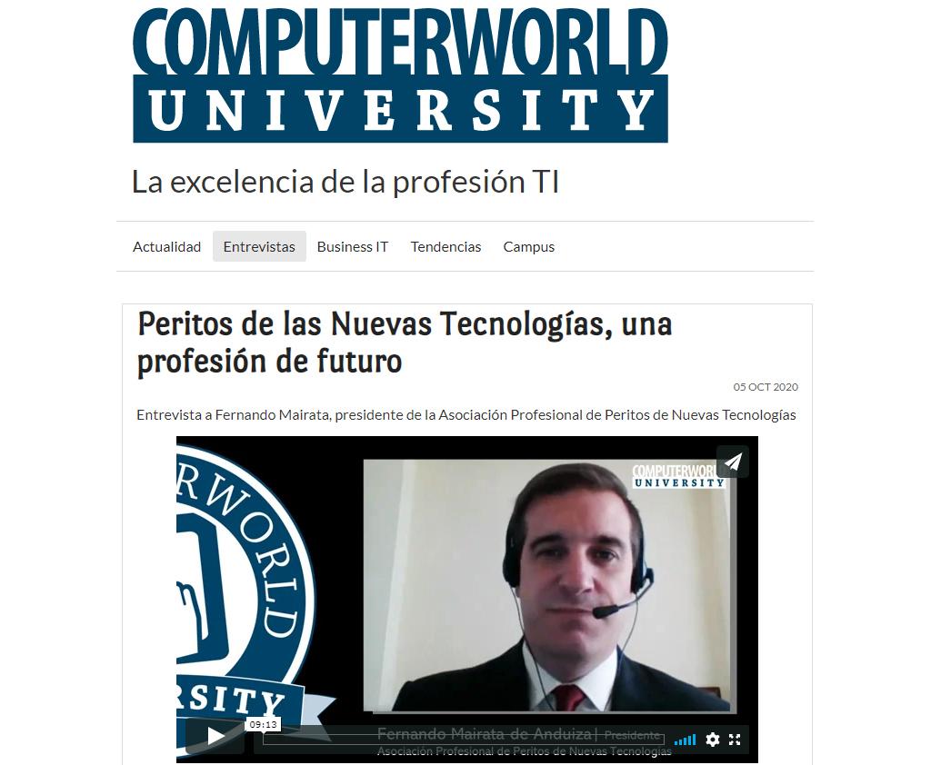 Entrevista a Fernando Mairata en Computerworld unversity