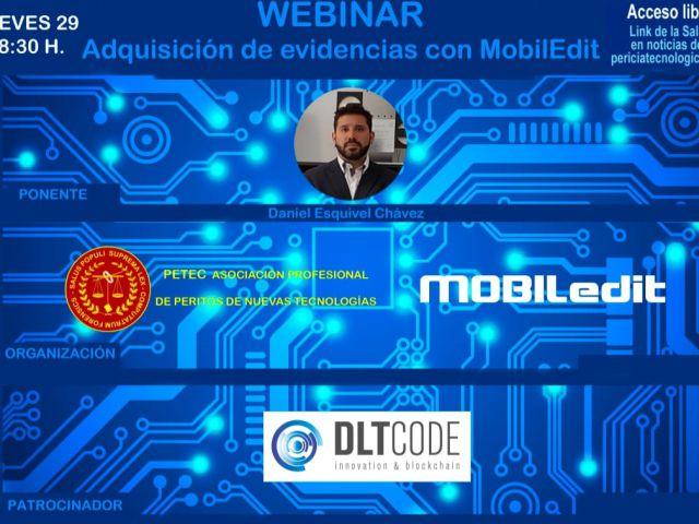 Webminar Adquisición de evidencias con MobilEdit