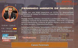 Fenando Mairta en el Congreso Ciberseguridad 2020