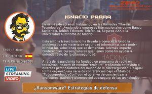 Ignacio Parra en el Congreso Ciberseguridad 2020