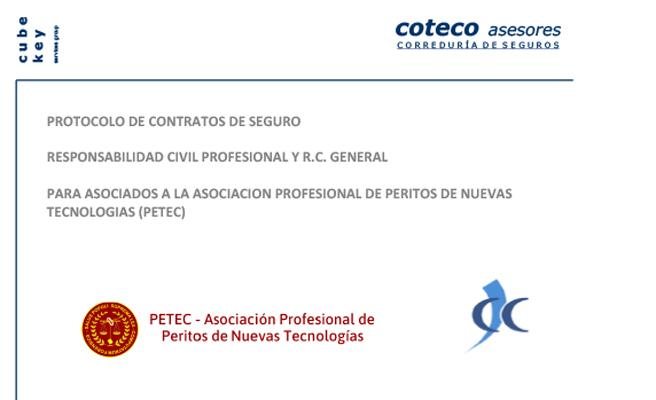 Imagen del protocolo de contratos de Seguro de PETEC y COTECO