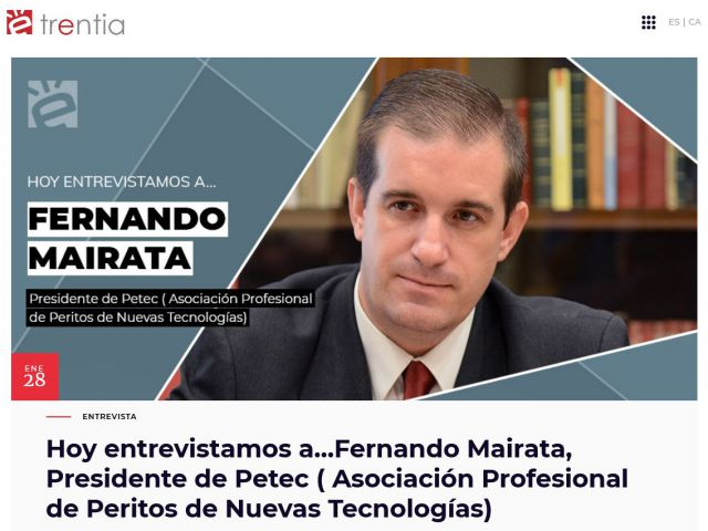 Entrevista de Trentia.net a Fernando Mairata realizada por Elena Marcos