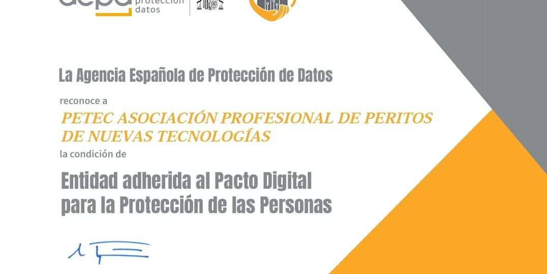 Pacto Digital de PETEC con AEPD