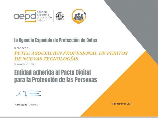 Pacto Digital de PETEC con AEPD