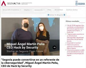 Miguel Ángel Martín Peña, CEO de Hack by Security en Segovia Activa