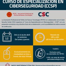 Curso de especialización en Ciberseguridad de ISMS Forum