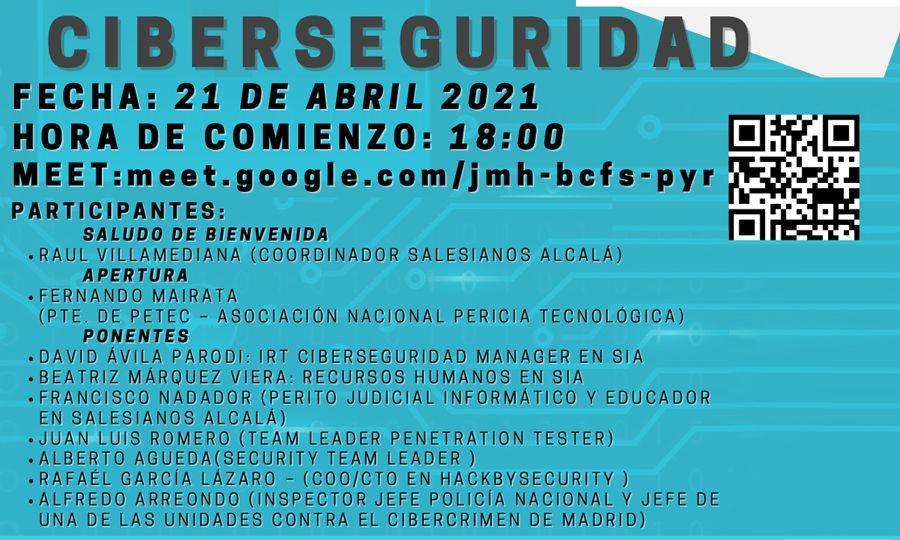 Evento Ciberseguridad Salesianos Alcalá de Henares con colaboación de PETEC