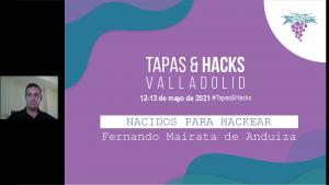 ERNANDO MAIRATA PONENTE EN EL EVENTO TAPAS & HACKS