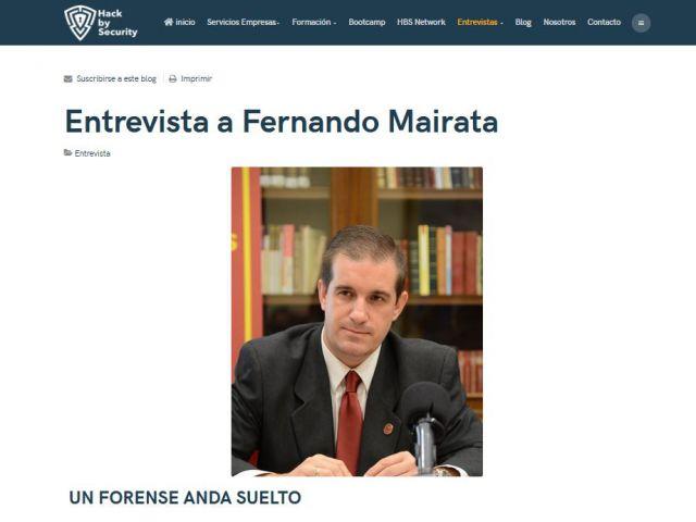 Entrevista a Fernando Mairata por Hack by Security