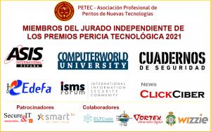 Miembros del jurado de los premios Pericia Tecnológica 2021 y patrocinadores y colaboradores