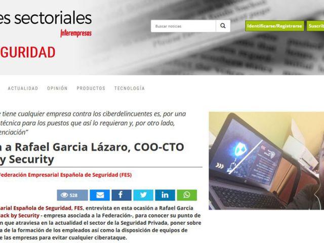Interempresas entrevista a Rafael García de Hack by Security