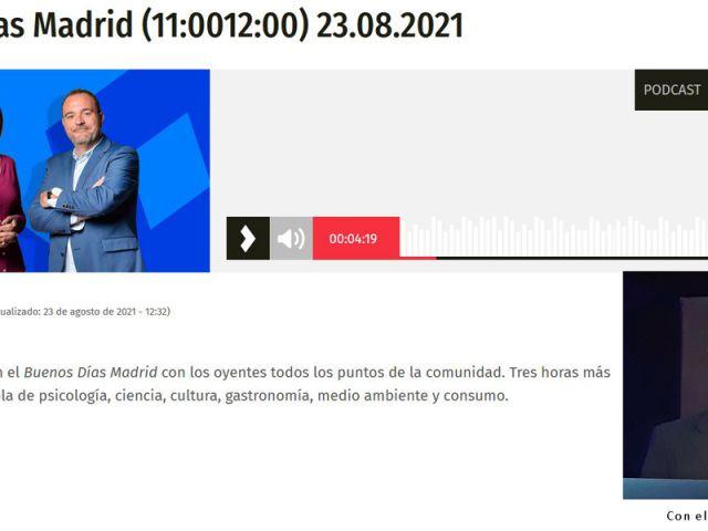 Postcast de Buenos días Madrid del Día del Intenauta en Onda Madrid
