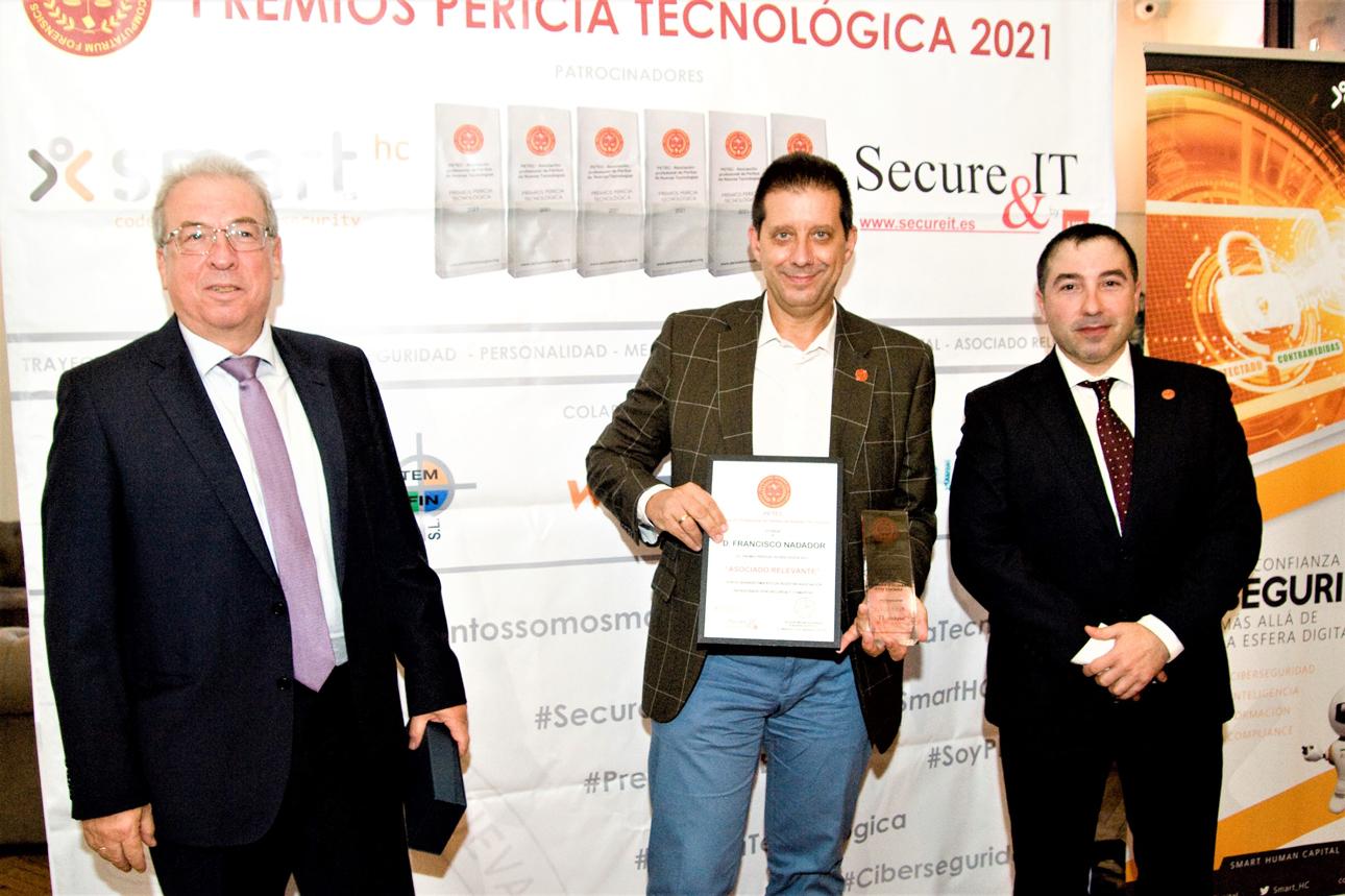 Vicente Parras, Francisco Nadador, José Rodriguez en los Premios Pericia Tecnologíca 2021