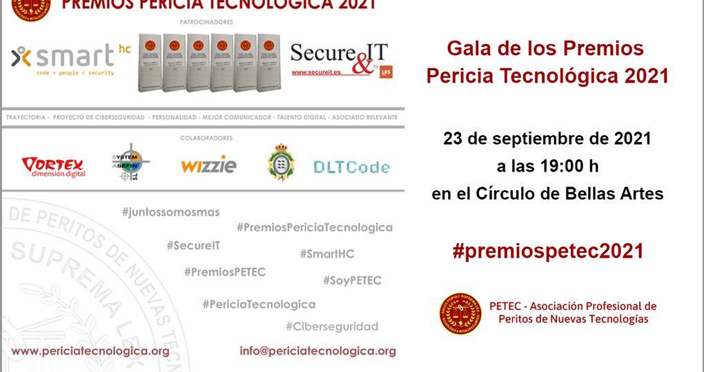 Celebración de la Gala de entrega de Premios Pericia Tecnológica 2021